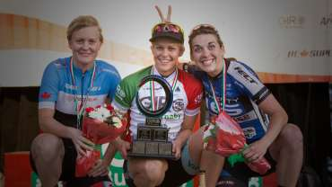 Two-time Australian National Criterium Champion Kimberley Wells takes women's race